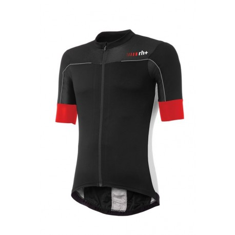 Zerorh+ Maglia Ciclismo Lapse Rosso Bianco Nero Uomo