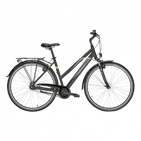 Pegasus City Bike Avanti Trapez Nero Opaco Donna
