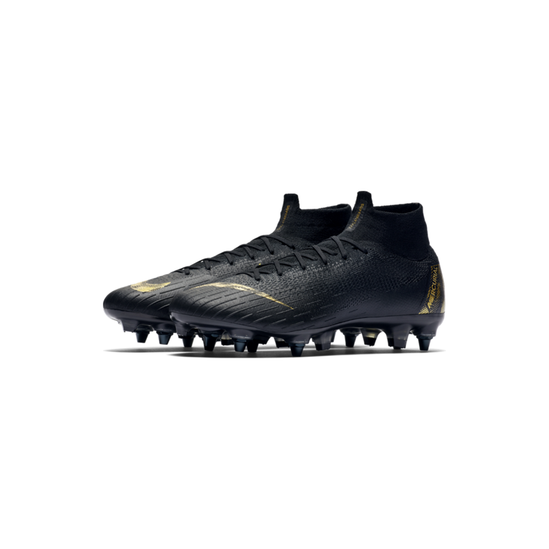 Nike Mercurial Superfly 6 Elite SG Pro Nero Oro Uomo