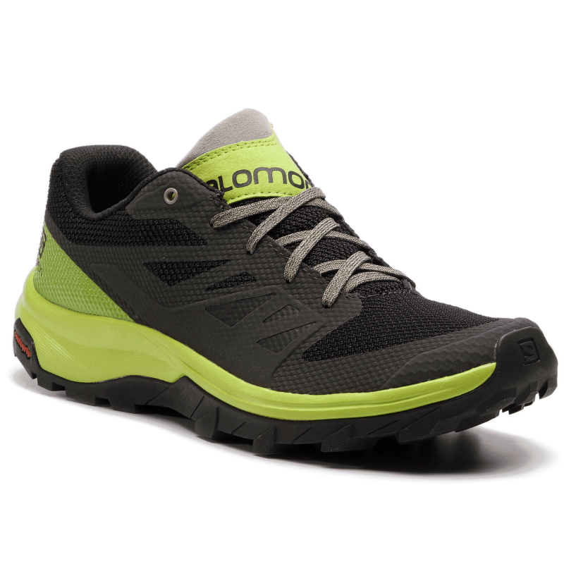 separation shoes 2a7d0 86933 Salomon Scarpe Trekking Outline Nero Lime Uomo