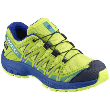 Salomon Scarpe Trekking Xa Pro 3d Cswp Blu Lime Bambino