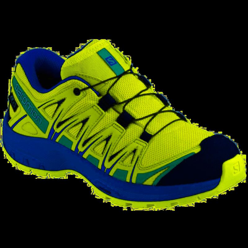 taglia 40 2c687 2c3d1 Salomon Scarpe Trekking Xa Pro 3d Cswp Blu Lime Bambino