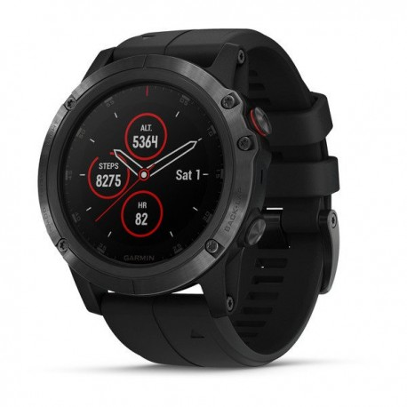 Garmin Gps Fenix 5X Plus Sapphire Black With Black Band