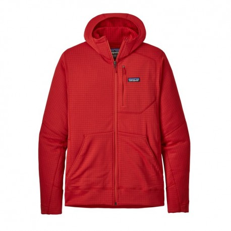 Patagonia Pile Montagna R1 Hoody Rosso Uomo