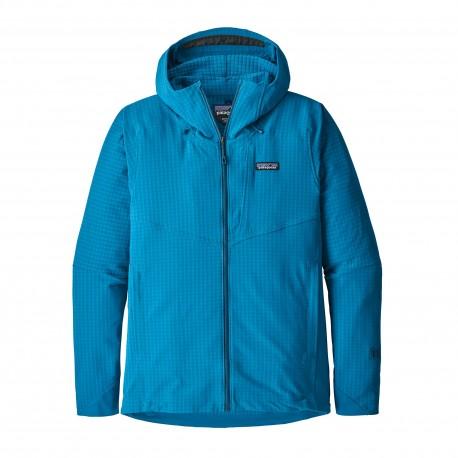 Patagonia Pile Montagna R1 Techface Hoody Balkan Blu Uomo