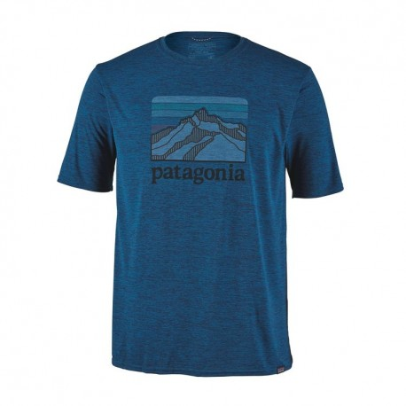 Patagonia Maglia Trekking Cap Cool Daily Line Blu Uomo