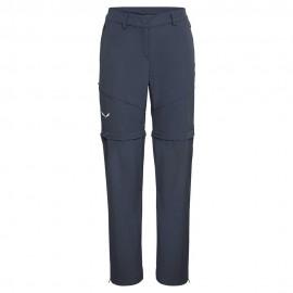Salewa Pantaloni Trekking Convertibile Isea Ombre Blu Donna