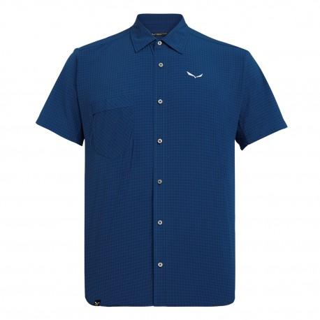 Salewa Camicia Montagna Puez Minicheck Blu Uomo
