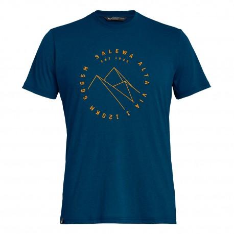 Salewa Maglia Trekking Alta Via Dri-Rel Blu Melange Uomo
