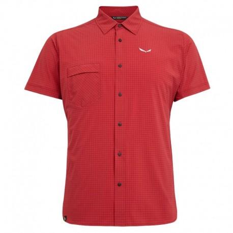 Salewa Camicia Montagna Mm Puez Velvet Rosso Uomo