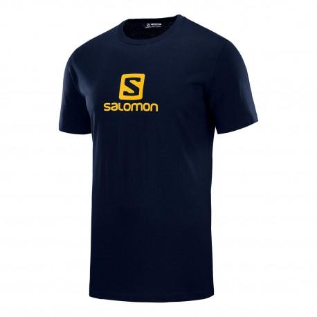 Salomon Maglia Trekking Coton Logo Blu Uomo