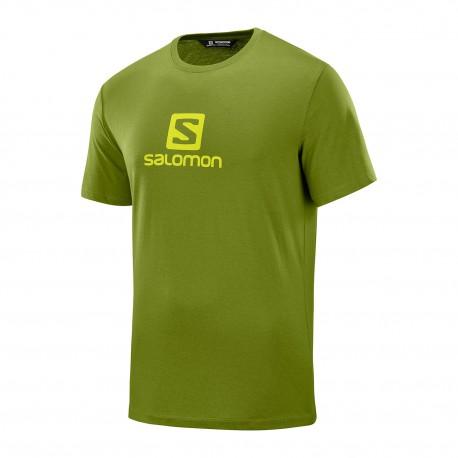 Salomon Maglia Trekking Coton Logo Verde Uomo