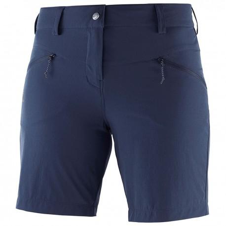 Salomon Pantaloni Corti Trekking Wayfarer Blu Donna