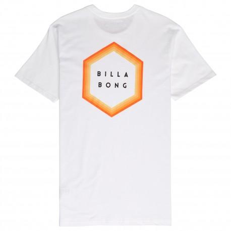 Billabong T-Shirt Mare Back Logo Bianco Uomo