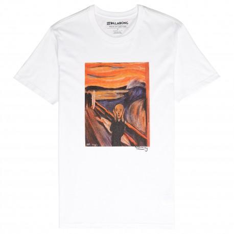 Billabong T-Shirt Mare Fantasia Munch Bianco Uomo