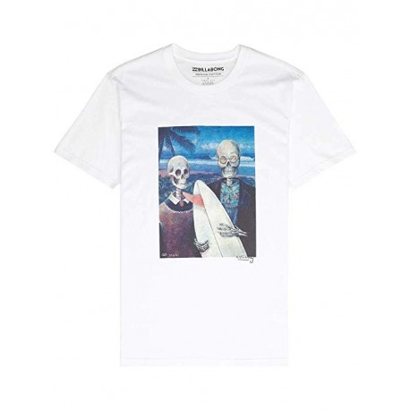 Billabong T-Shirt Mare Fantasia Teschio Bianco Uomo