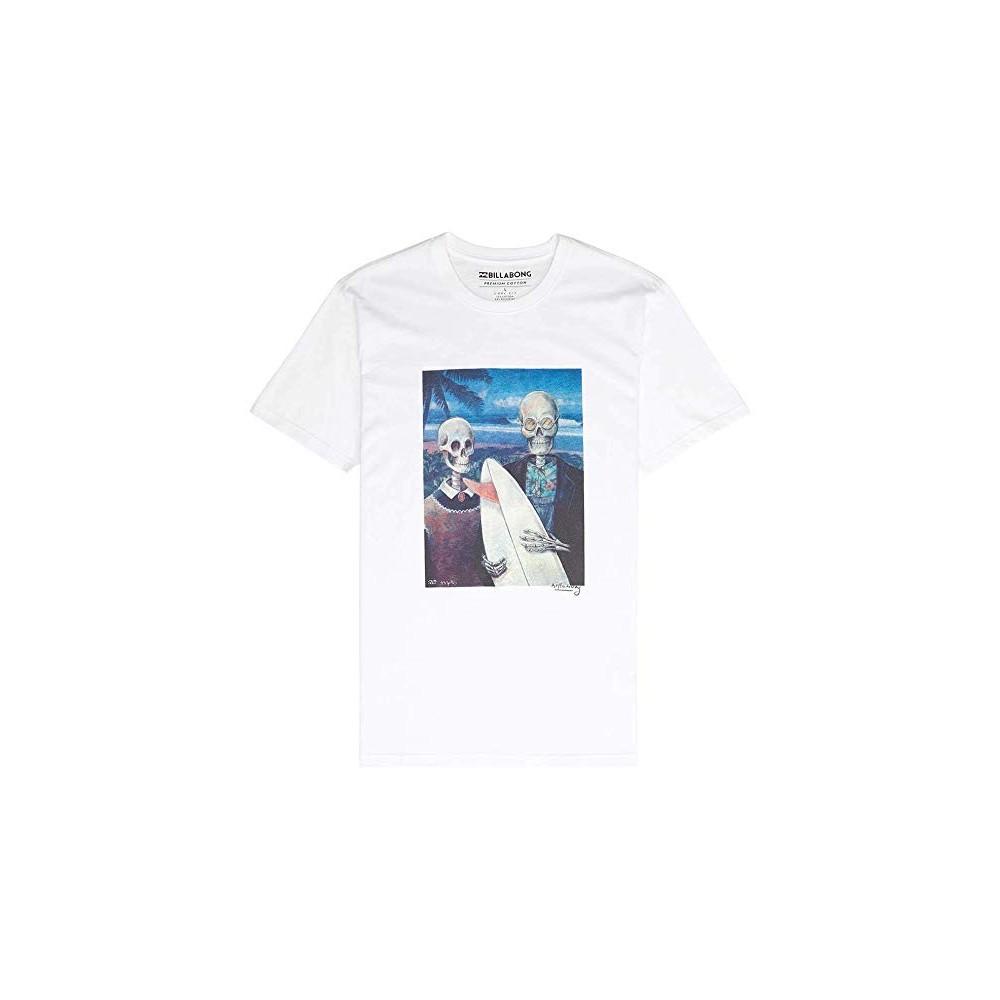 SALDI T-Shirt Uomo con Teschio in Strass colore Bianco cotone elasticizzato