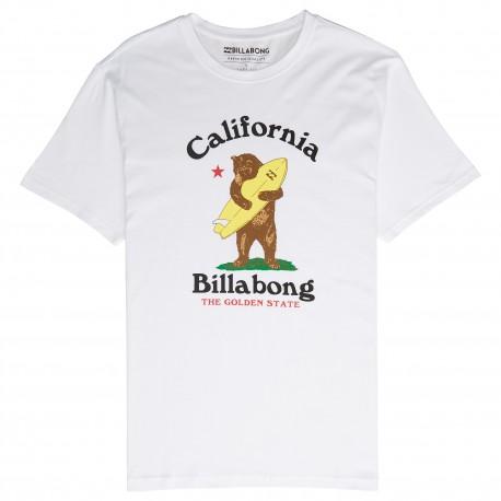 Billabong T-Shirt Mare Fantasia California Bianco Uomo
