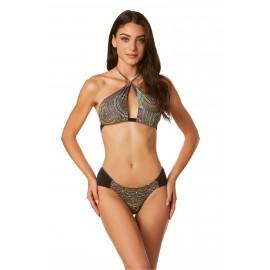 4giveness Bikini Fantasia Lurex Brassier Nero Donna