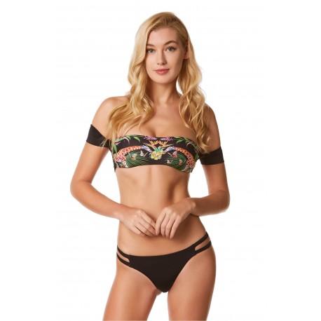4giveness Bikini Fascia Top Welcome Nero Donna