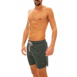 Effek Pantaloncini Mare Basico Microfibra Verde Uomo