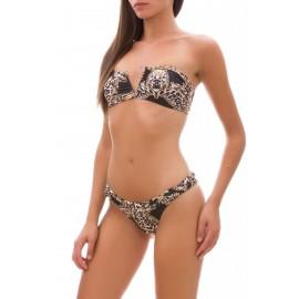 Effek Bikini Fascia Con Ferretto Nero Donna