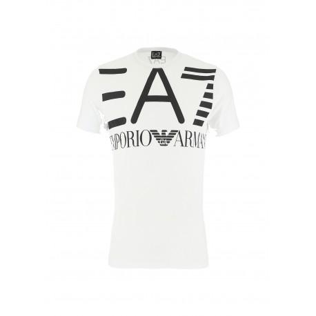 Ea7 T-Shirt Mare Big Logo Bianco Uomo