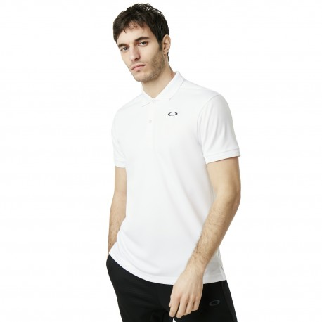 Oakley Polo Tessuto Tecnico Bianco Uomo