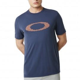 Oakley T-Shirt Mare Logo Blu Uomo