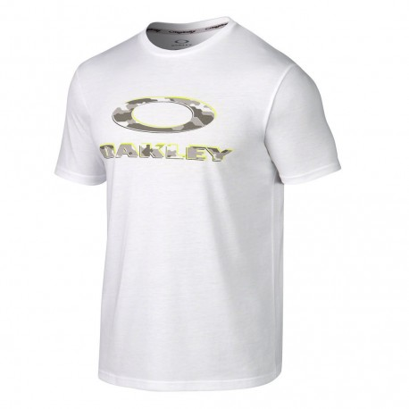 Oakley T-Shirt Mare Logo Camou Bianco Uomo