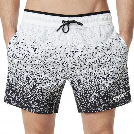 Oakley Pantaloncini Mare Pixel Bianco Nero Uomo