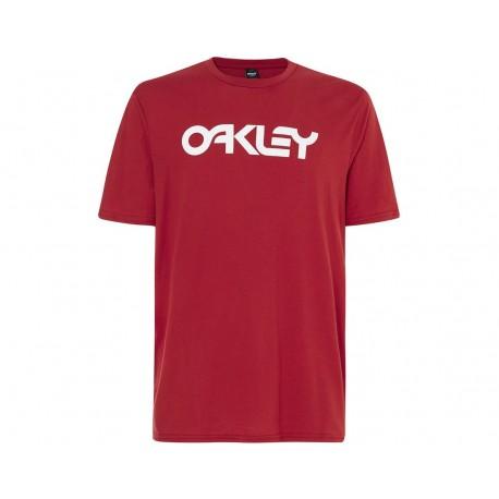 Oakley T-Shirt Mare Scritta Rosso Uomo