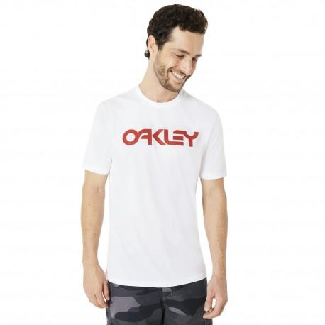 Oakley T-Shirt Mare Scritta Bianco Uomo