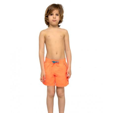 Sundek Pantaloncini Mare Con Elastico Arancio Bambino