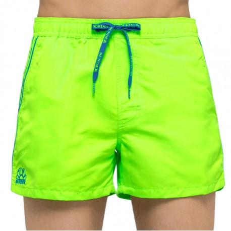 Sundek Costume Boxer Basico Corto Verde Fluo Uomo