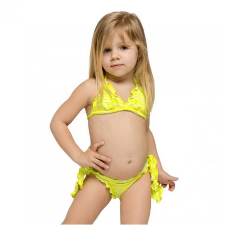 Sundek Bikini Tigrato Giallo Bambina