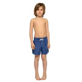 Sundek Pantaloncini Mare Arcobaleno Con Elastico Blu Bambino