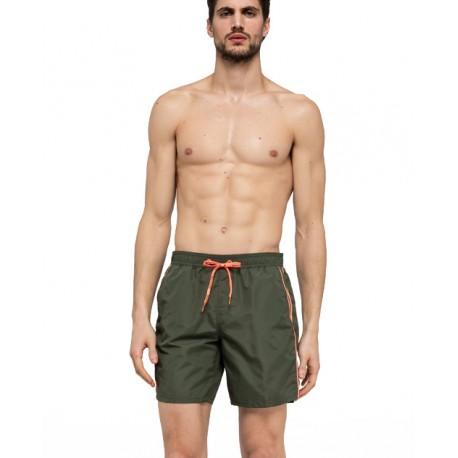 Sundek Costume Boxer Basico Medio Verde Militare Uomo
