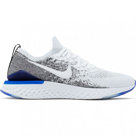 Nike Scarpe Running Epic React Flyknit 2 Bianco Blu Uomo