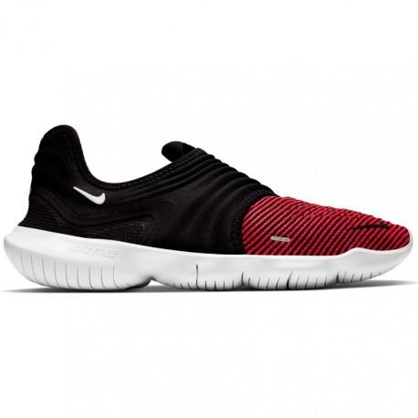 Nike Scarpe Running Free Rn Flyknit 3.0 Nero Rosso Uomo