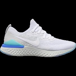 Nike Scarpe Running Epic React Flyknit 2 Bianco Azzurro Donna