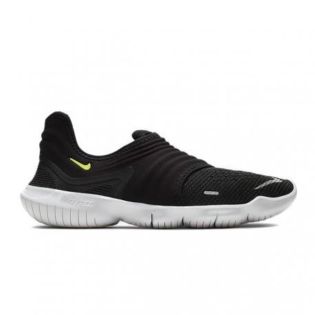 Nike Scarpe Running Free Rn Flyknit 3.0 Nero Bianco Donna