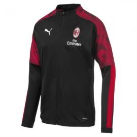 Puma Felpa Calcio Milan Poly Fz Nero Red Uomo
