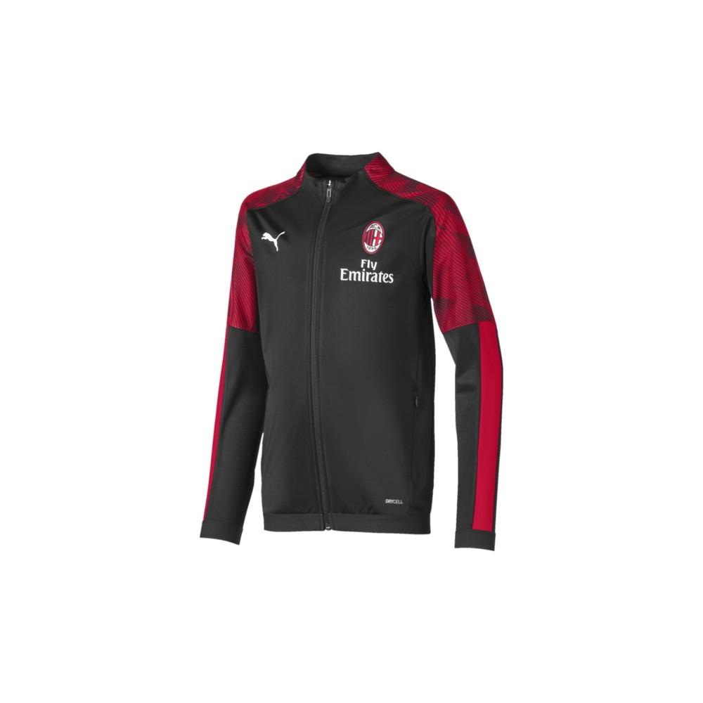 Puma Felpa Calcio Milan Poly Fz Nero Red Bambino Acquista