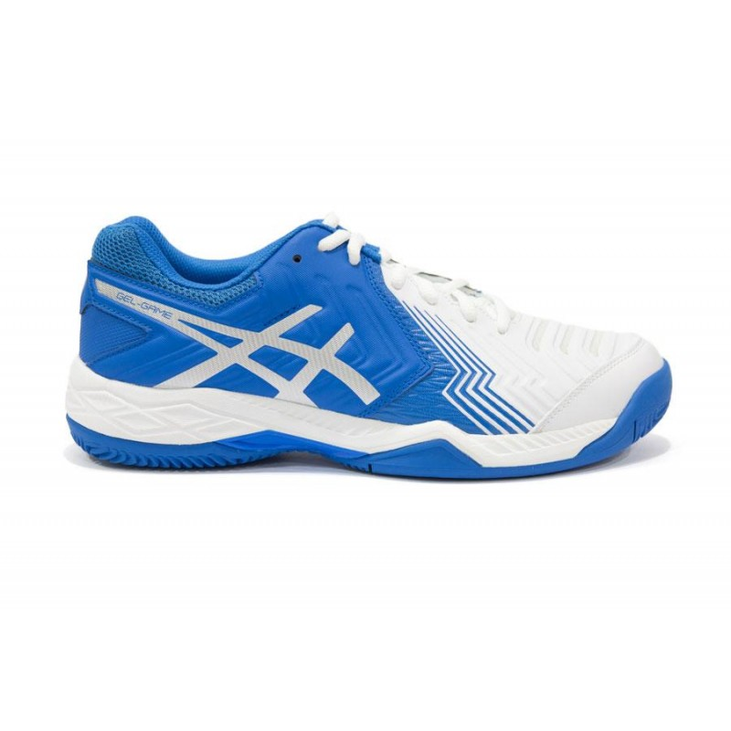Asics Gel-Game 6 Clay White/Directoire Blue