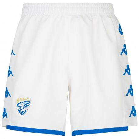 Kappa Pantaloncini Calcio Brescia Home Bianco Blu Royal Uomo