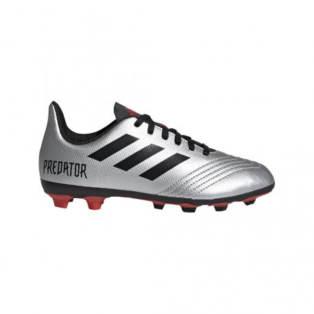 ADIDAS scarpe da calcio predator 19.4 fxg argento nero bambino