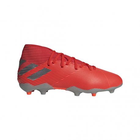 ADIDAS scarpe da calcio nemeziz 19.3 fg rosso argento bambino
