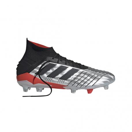 ADIDAS scarpe da calcio predator 19.1 fg argento nero uomo