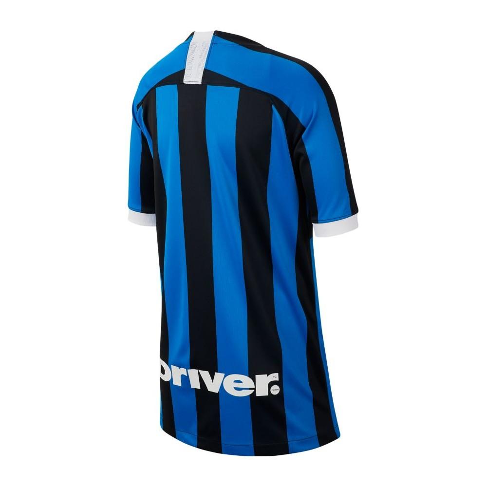 Nike Maglia Calcio Inter Home 19 20 Nero Blu Bambino